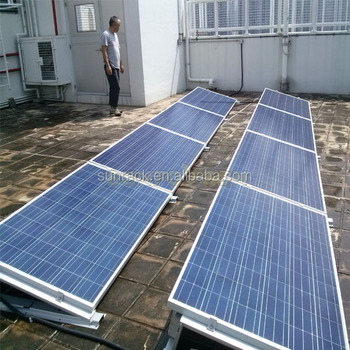 Easy pv racking installation systems flat roof ballast for Solar panel blueprint