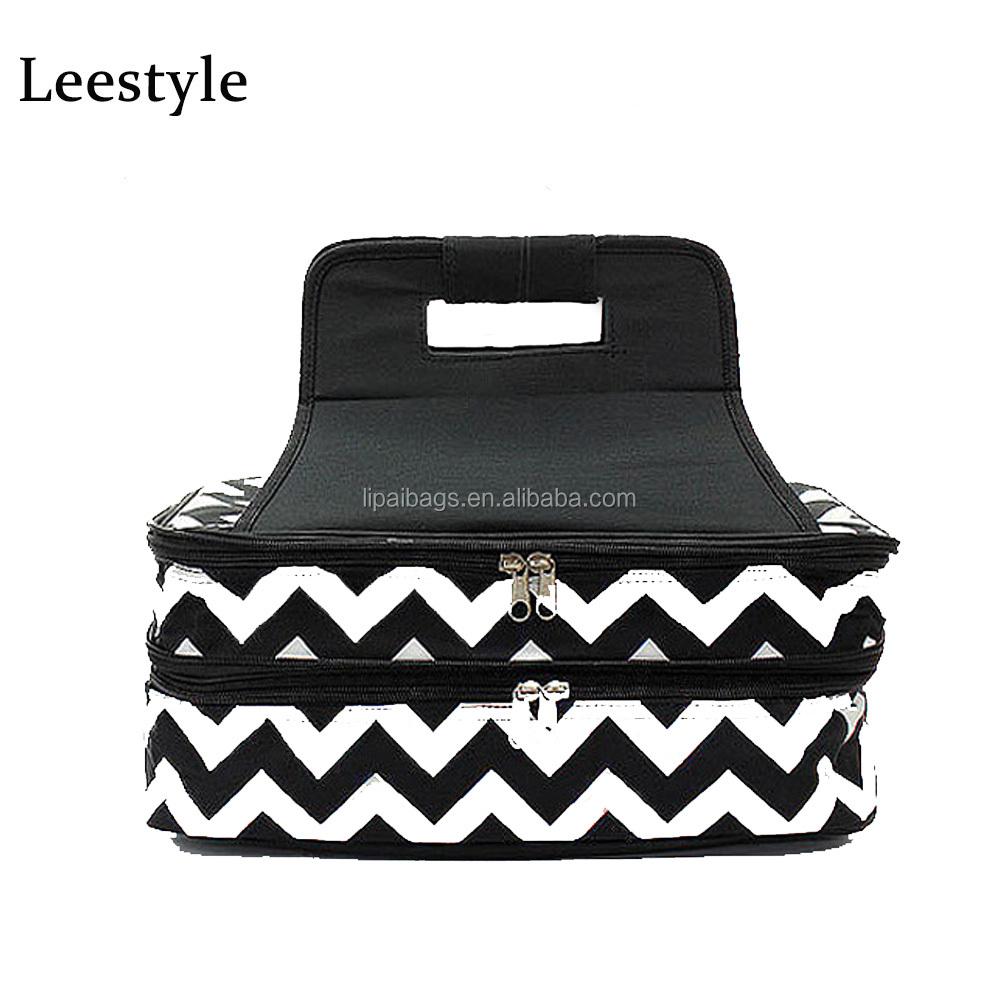 e2d38791834fab Black Chevron Print Carrier Bag Personalized Casserole Carrier Double  Insulated Carrier Bag