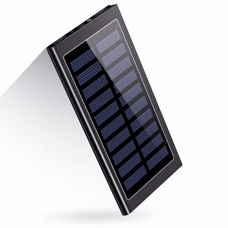 Factory low cost Ultra thin portable mobile slim power bank 10000mah solar battery charger