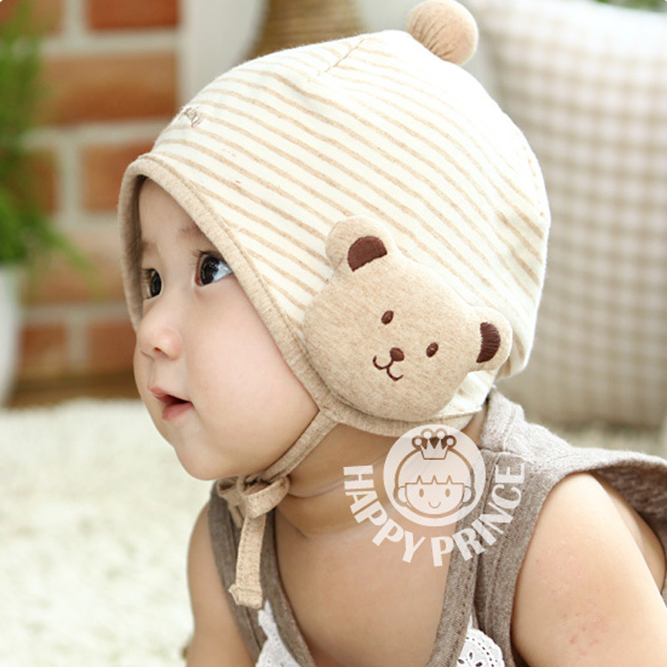 4a44715ce Latest Baby boy/girl cotton autumn/winter hats Newborn animal bear Beanies  Infant Korean earflaps 1pcs Free Shipping MZD-14002