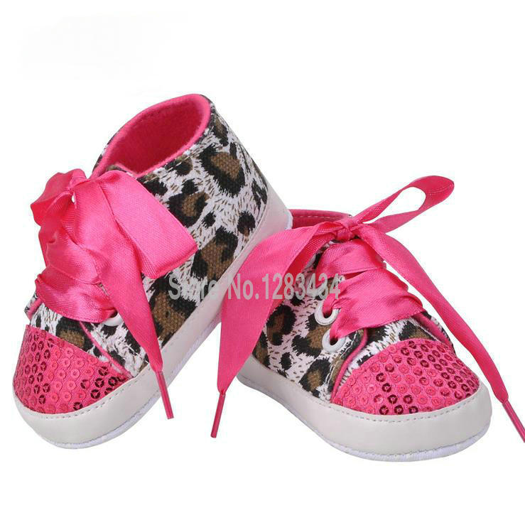 Get Quotations · New Bling Bling Leopard Baby Sport Shoes First Walkers  Infant Skid-proof Toddler Lace- 00b9ce28e