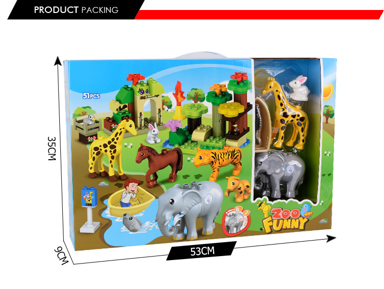 educational construction engineering building block diy zoo
