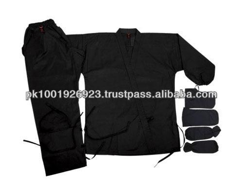 Black 100% Cotton Ninja Uniforms