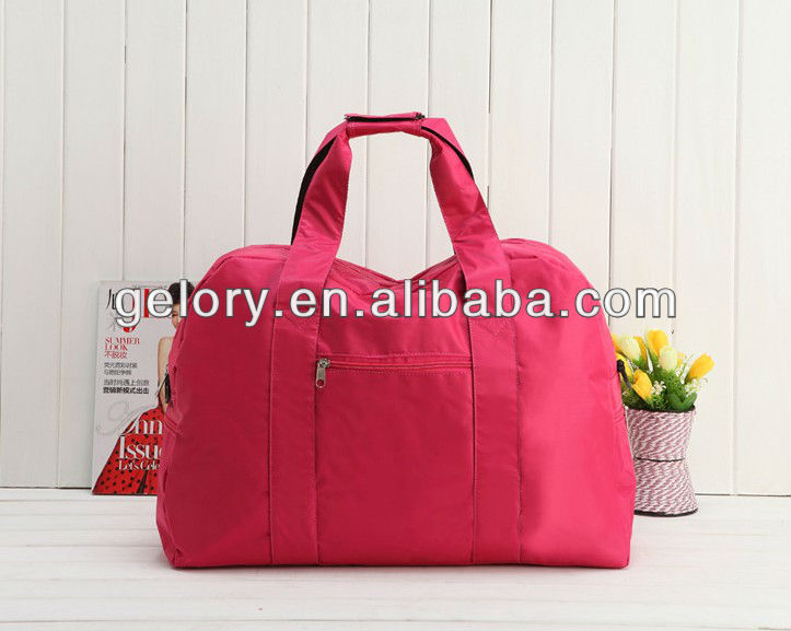 hot-sale waterproof polyester sport travel bag for ladies with sofa pad handle