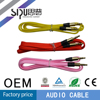 SIPU factory price colorful gold connector 3.5mm av cable audio video cable