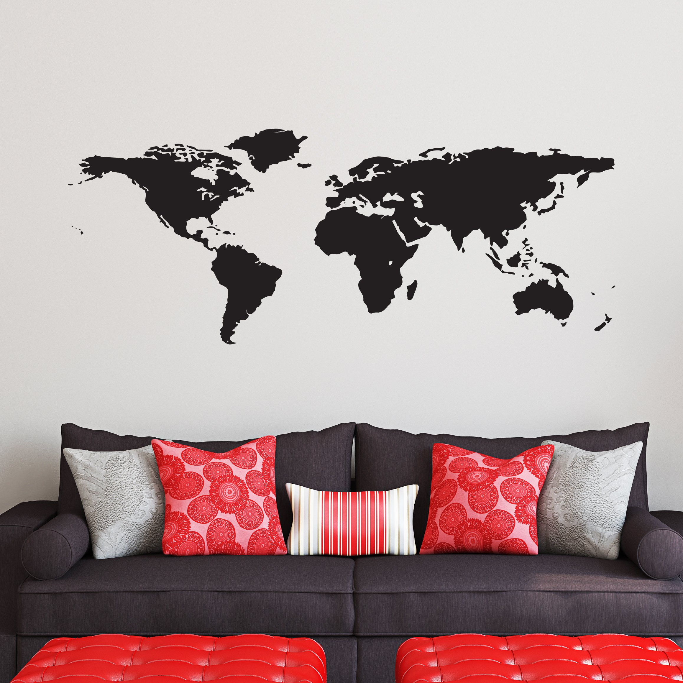 Cheap atlas decal find atlas decal deals on line at alibaba get quotations black world map wall decal easy to apply modern large earth mural vinyl atlas gumiabroncs Gallery