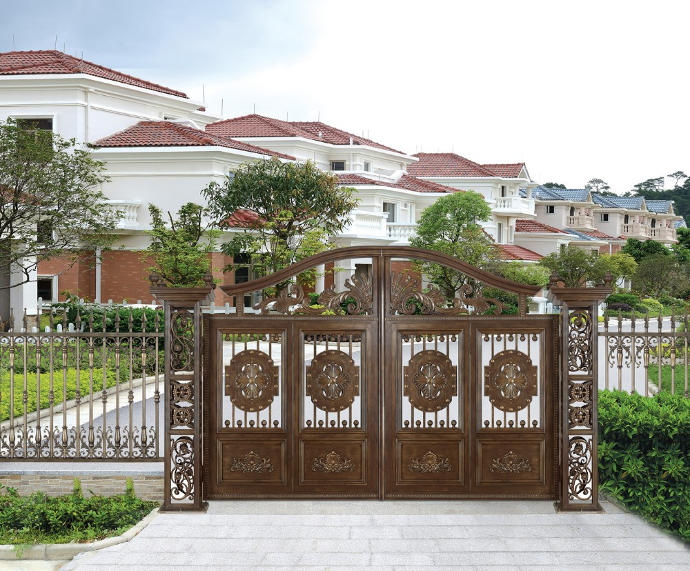 2016 China Producer Aluminum Main Gate Design Used