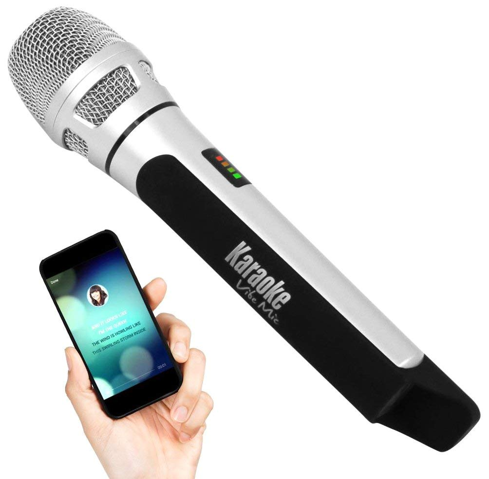 Pyle Wireless Bluetooth Streaming Karaoke Microphone for Music Playing and Singing, FM Radio Station Broadcasting with Multiple Adjustable Settings. (PKRK9CR)