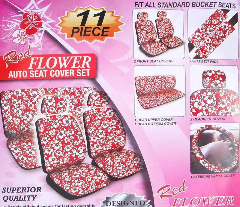 rouge de fleur d 39 hibiscus hawa en 11 pc housse de si ge combo capot de selle id de produit. Black Bedroom Furniture Sets. Home Design Ideas