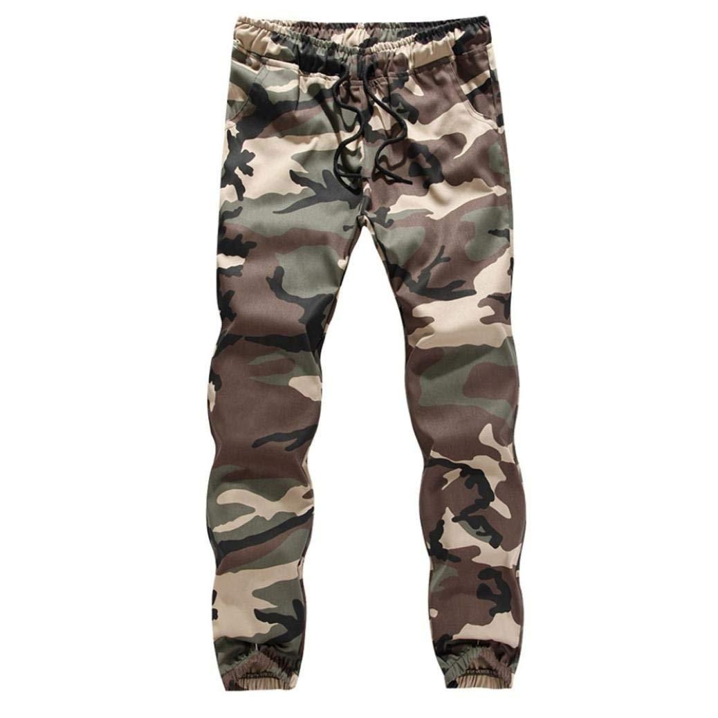 Dreamyth Men's Camouflage Sweatpants, Mens Casual Jogger Camo Sportwear Baggy Harem Pants Slacks Trousers Sweatpants