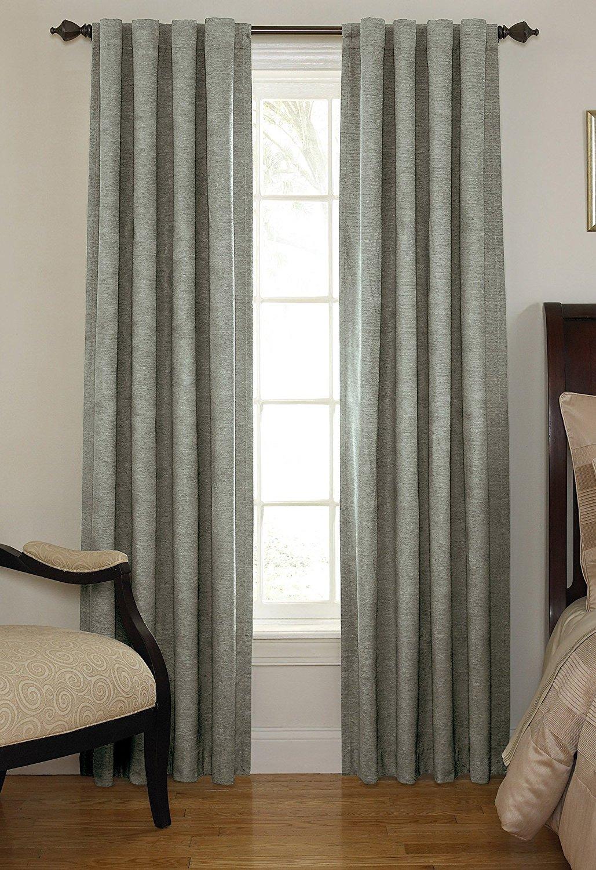 Sound Asleep Room-Darkening Noise-Reducing Backtab Window Panel, Grey , 42-inch X 95-Inch