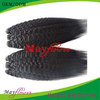 Natural Color Kinky Straight Unprocessed Peruvian Hair Quick Weave ...