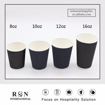 Dark Grey Series 8oz 10oz 12oz 16oz Compeive Disposable Ripper Paper Cups