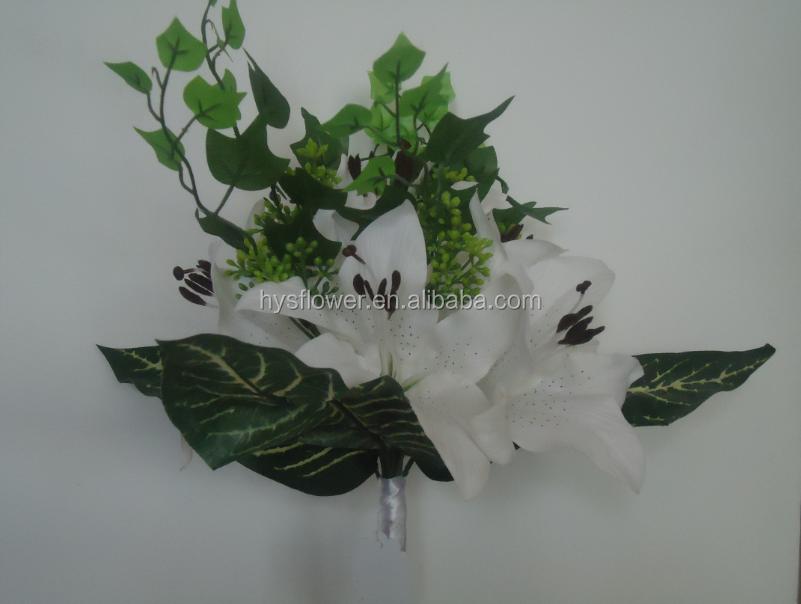 Silk Tiger Lily Bouquet Artificial Flower Bouquet Silk Garland ...