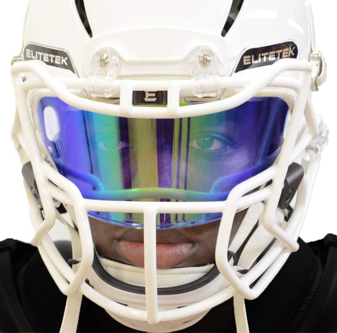 46521f4b EliteTek PRIZM Football & Lacrosse Eye-Shield Facemask Visor by Fits Youth  & Adult Helmets