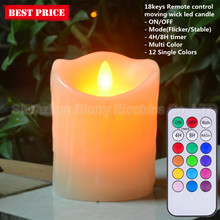 electric dripping wax led scented bright candle