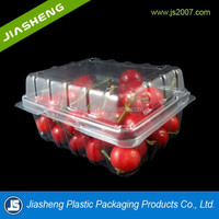 Nice high-quality plastic fruit containers with hinged lids,transparent strawberry boxes