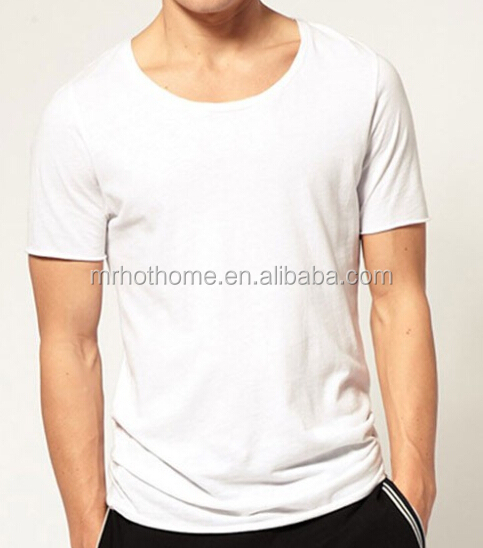 Wholesale casual plain white t shirts for printing