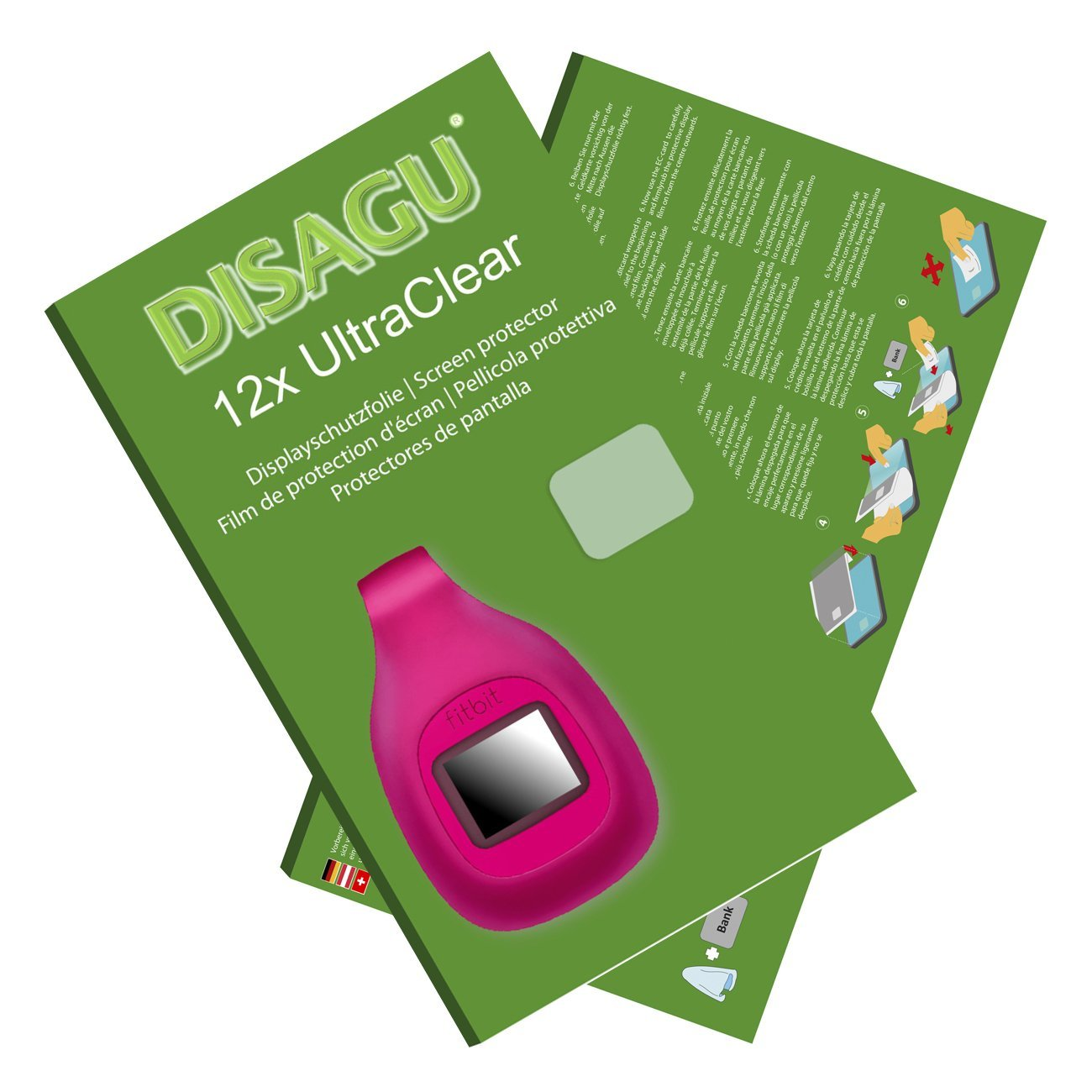 DISAGU 12x Ultra Clear Screen Protector for Fitbit Zip