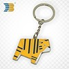 promotional custom epoxy metal live animal keychain