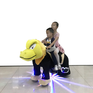 high quality coin operated stuffed plush animal ride with led light for mall
