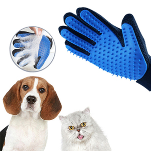 2-in-1 Waterproof Portable hair Pet Grooming Glove, Grooming Glove Pet
