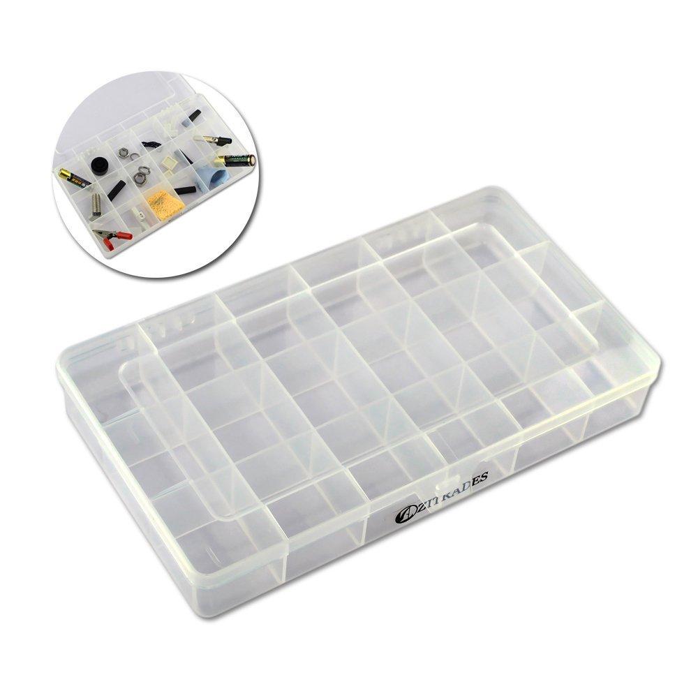 18 grille de rangement en plastique cristal bijoux perle conteneur bo te compartiment case par. Black Bedroom Furniture Sets. Home Design Ideas