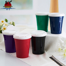 Hot sale customised custom styrofoam biodegradable plastik restaurant cafe 12oz takeaway coffee cups