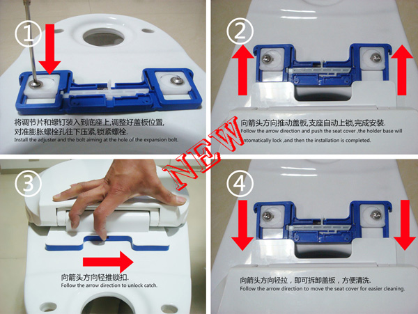 Plastic HeatedToilet Seat Cover Soft CLose seat cover