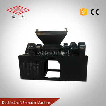 Double Shaft Shredder Machine, Nylon Net / Fabric Shredder For Sale