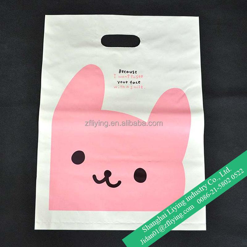 Cute Wholesale Grocery Plastic Bag With Die-cut Handle - Buy ...
