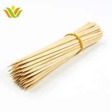 Reusable 15cm Bamboo Skewers Paddle Sticks For BBQ