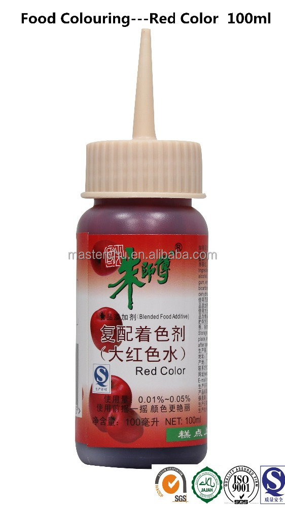 Master Chu Red Food Colour for bakery application 100ml