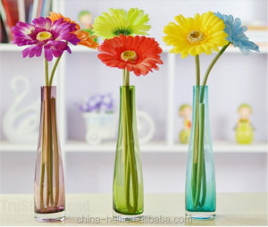 hot sale machine made tall glass vase for Home Decoration