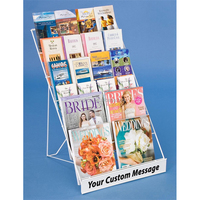 Newspaper magazine metal display rack with spray coated finish made of iron wire