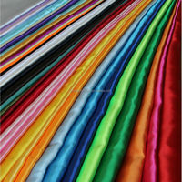 Discount Polyester Silk Like Satin Crepe fabric Imitated Washable Silk fabric