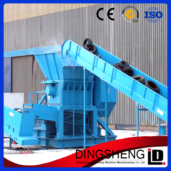 Factory price automatic used tire shredder for rubber