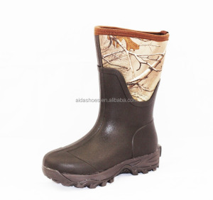 Rubber Neoprene Camouflage Hunting BootsWaterproof hunting boot