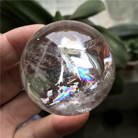 nature rainbow crystal sphere clear quartz ball for decoration