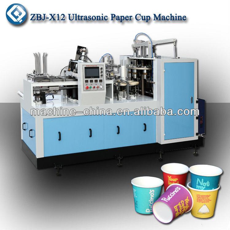 Zbj x12 ad alta velocit freddo bevanda tazza di carta - Macchina per decorare carta ...