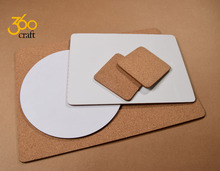 Factory Price custom design wood hard board blank sublimation MDF coasters with cork bottom