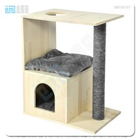 GMT60197 top best selling new pet products design cat dog wooden house furniture wooden cat cage in alibaba