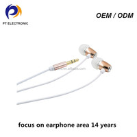 cheap airline earphones one time use metal earbuds for travel agency from factory