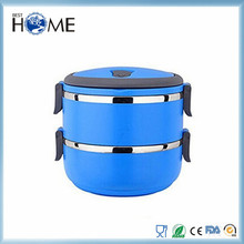 Two Tier stainless steel stacking lunch box / food container