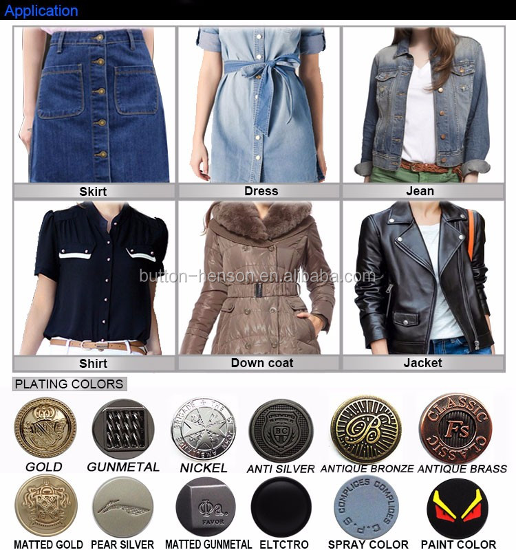 Malay Mens 24L Flat Mens Customized Logo Shirt Shank Sewing Metal Clothes Buttons For Garments