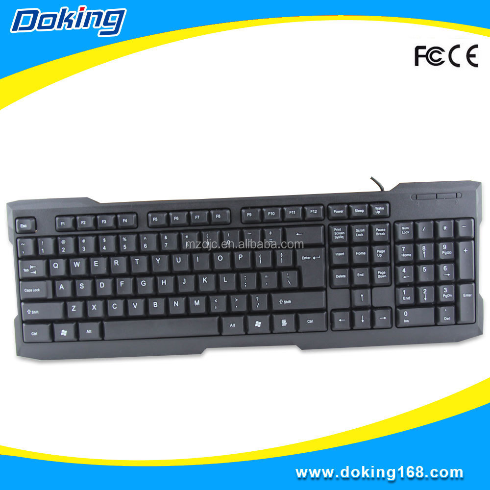 New design unique black gaming keyboard