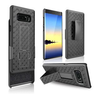 Wholesale for Samsung Note 8 hard cover case with belt clip holster ,multifunctional phone case for Samsung Note 8