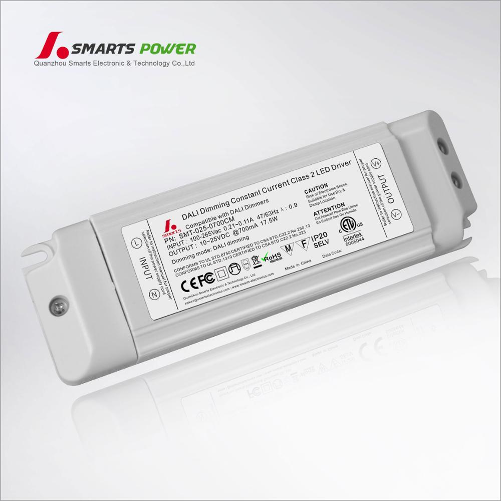 constant current dimmable 18W dali led driver