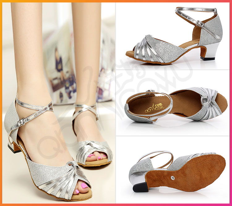 Women Latin Dance Shoes Salsa Soft Sole Tango new trend ballroom zouk free