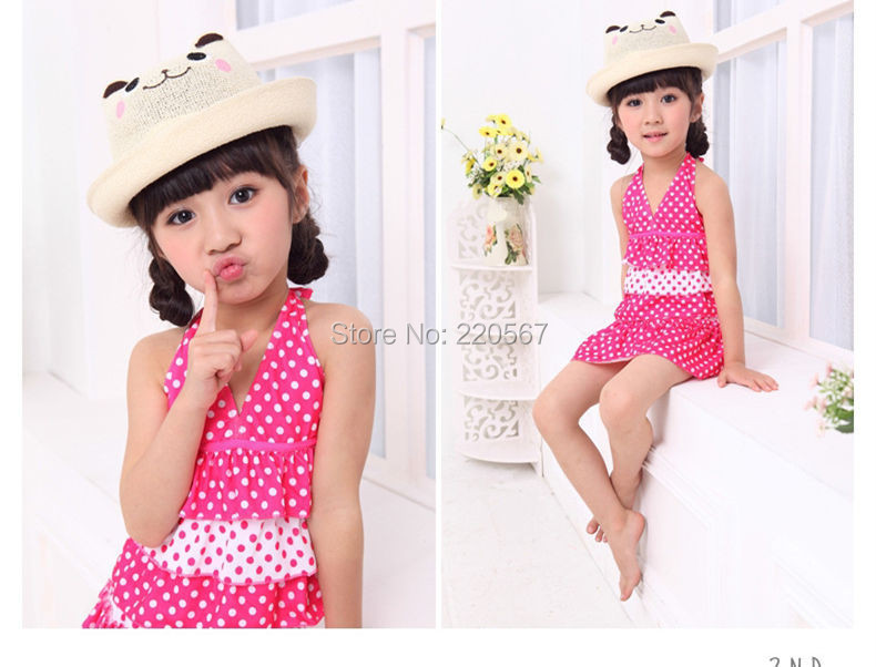 Buy Fancy Fashion Kids Girl Swimming Costumes One Piece Swimming